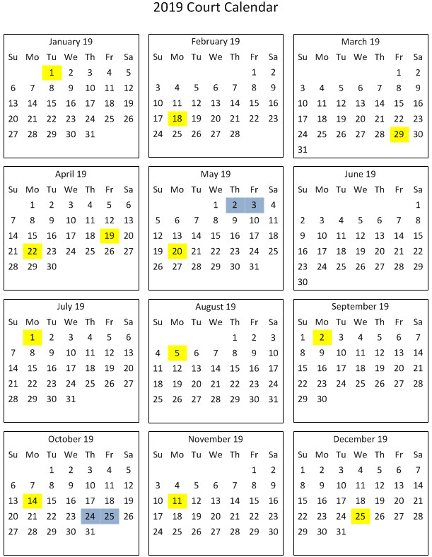Provincial Calendar | Provincial Court of British Columbia